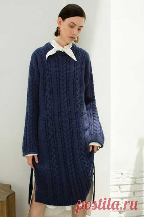 Утепляемся стильно. Красивая подборка вязаных платьев в современном стиле. | Вяжу для души | Яндекс Дзен