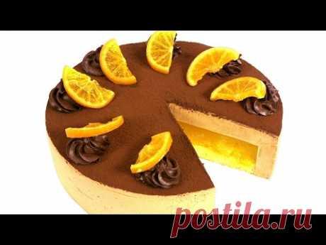 """Торт """"Делиция"""" Пошаговый рецепт муссового торта с апельсиновой прослойкой."""