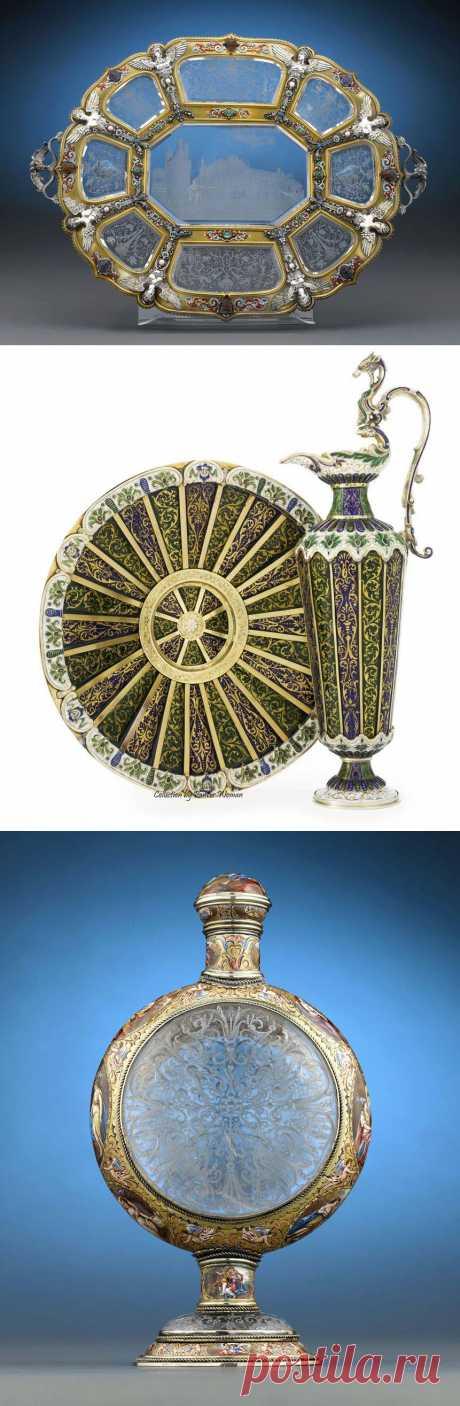 в коллекцию...Венская эмаль и Горный хрусталь .