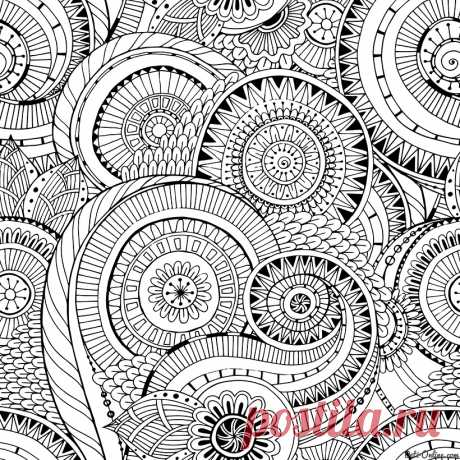 Раскраска Антистресс Цветочная геометрия   Раскраски Антистресс