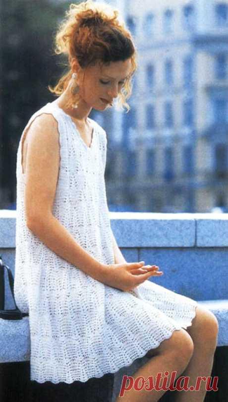 Пуловер с платьем крючком узором Циркуль – схемы с описанием и выкройками, видео МК