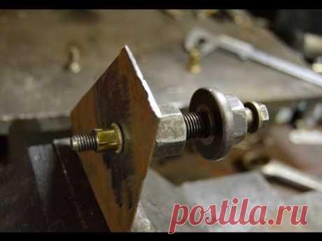 Self-made zaklepochnik for carving rivets