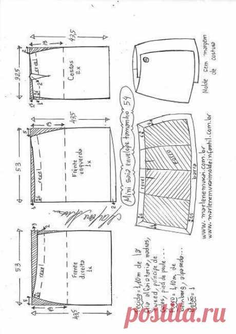 Новая старая юбка на запах (выкройки) | Сайт о переделках Вторая Улица | Яндекс Дзен