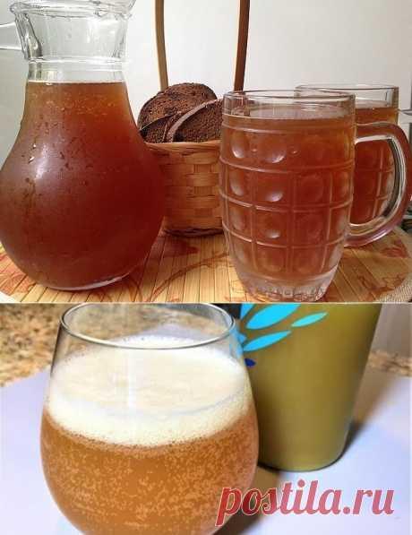 ТОП-5 рецептов домашнего кваса  Простые рецепты полезного летнего напитка.  1. Яблочный квас Показать полностью…