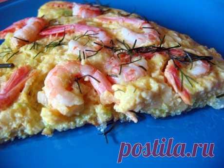 Tortilla с цуккини и креветками