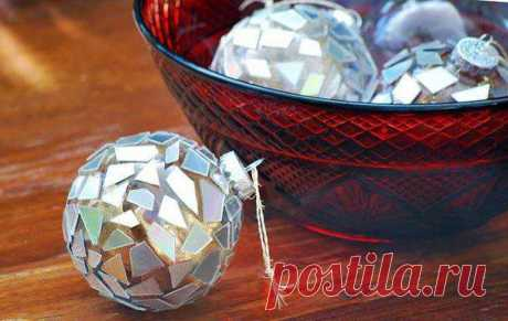 Поделки из компакт-дисков на Новый год. Идеи с описанием