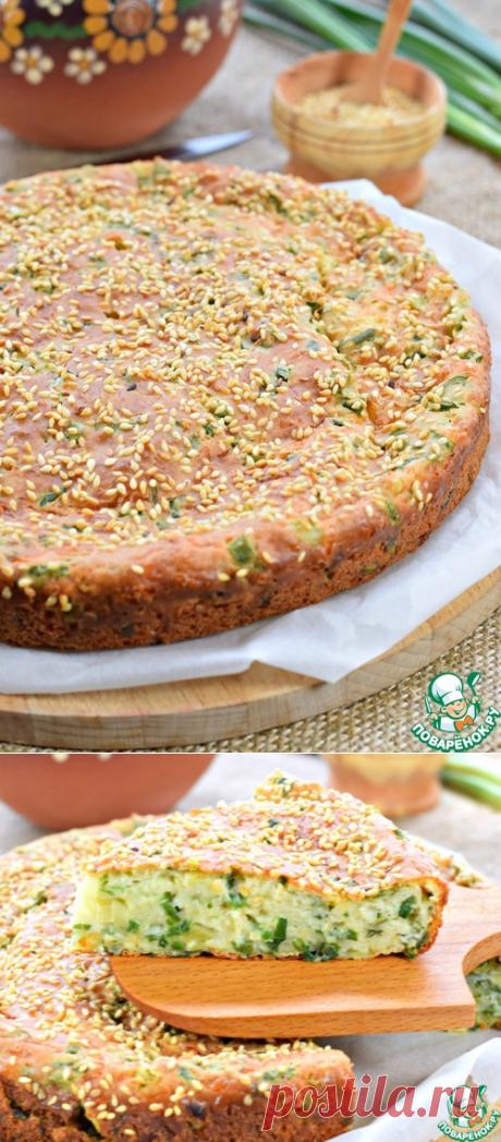 Быстрый луковый пирог с сыром - кулинарный рецепт