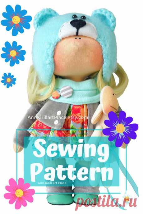 How to Sew Cloth Doll Handmade Doll Sewing Pattern PDF   Etsy
