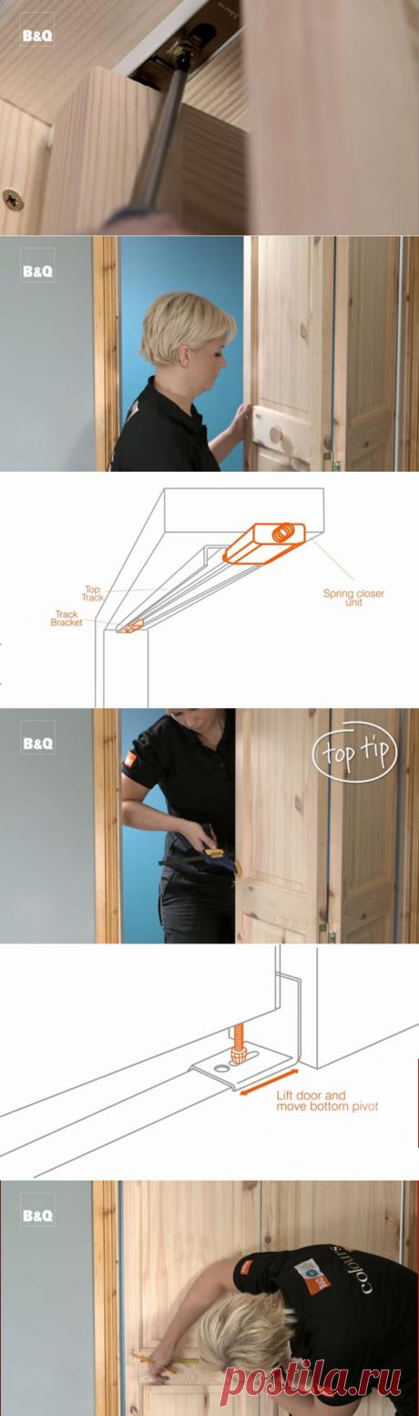 Как установить дверь-гармошку своими руками.