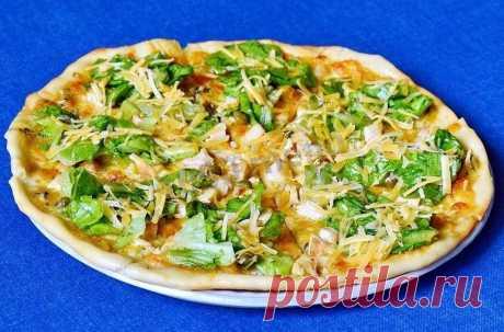 Пицца Цезарь в духовке на дрожжевом тесте