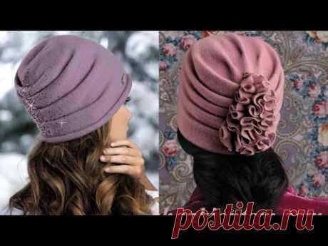 #ملابس#الشتاء#عمل بونيه أو تربون كسرات منتهى الجمال وسهل جدا