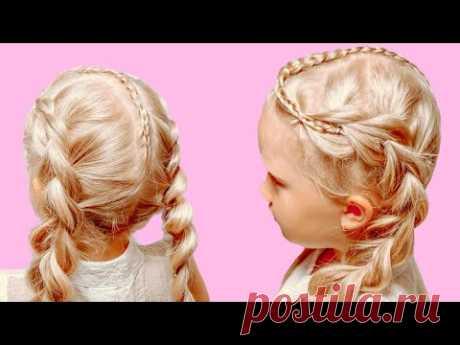 Как ЛЕГКО заплести Французские косы с необычным пробором. Подробный урок. - YouTube
