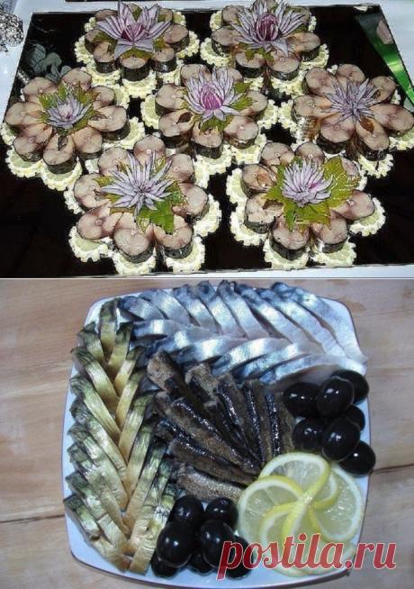 Оформление рыбной нарезки