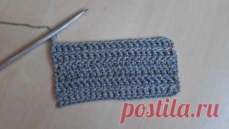Узор крючком двойной столбик с накидом. Вяжем два ряда одновременно | Anna Gri Crochet | Яндекс Дзен