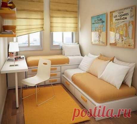 Идея для очень маленькой комнаты  Дизайн своими руками
