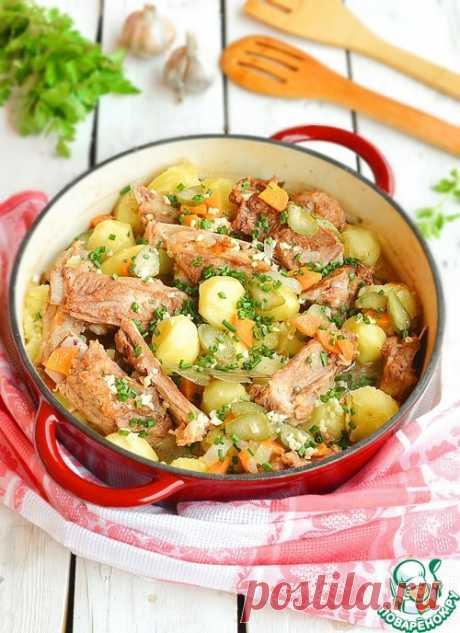 Домашнее жаркое с ребрышками и картофелем – кулинарный рецепт