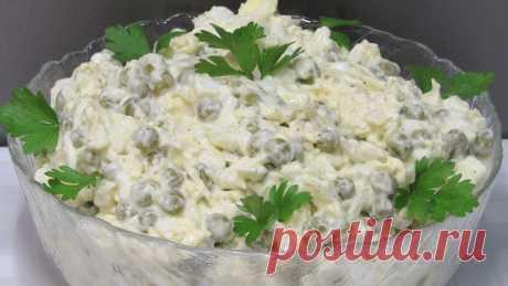 """Необыкновенно вкусный простой салат """"Чайка"""" Рецепт этого салата был записан в кулинарную книжку практически у всех хозяек далекого СССР."""