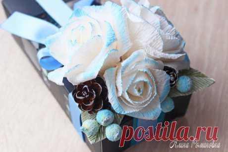 Удивительно простой подарок своими руками - украшаем коробку конфет