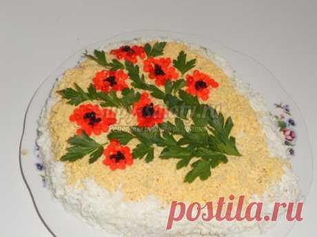 Салат с кальмарами на 8 Марта. Для тебя. Рецепт с пошаговыми фото