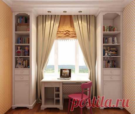 Шкафы вокруг окна - идеи, преимущества и разновидности
