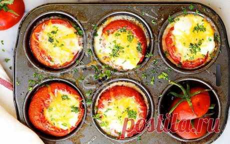 Яйца, запеченные в томатах | Рецепты (Огород.ru)
