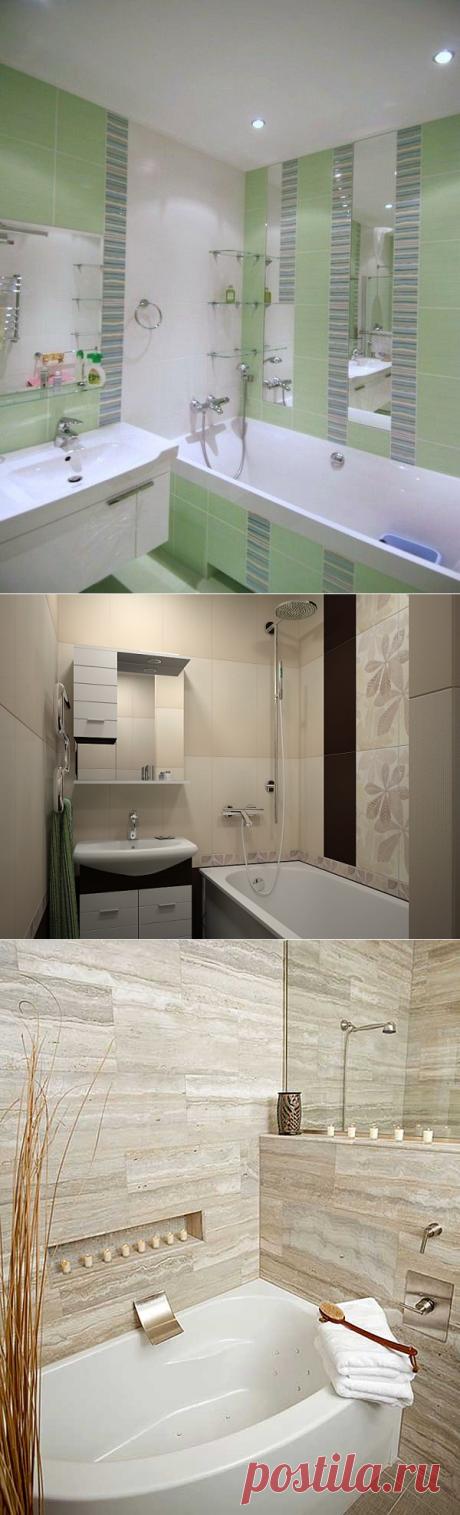 Дизайн маленькой ванны без унитаза