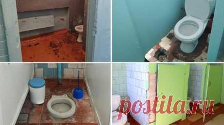 """Газета.Ru on Twitter: """"Шесть российских школ выиграли ремонт туалетов в конкурсе на самый ужасный туалет. Теперь им бесплатно сделают ремонт. Остальные 150 участников получат годовой запас чистящих средств https://t.co/QRdjNDhkNI"""" / Twitter"""
