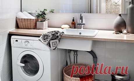 5 вариантов размещения стиральной машины в ванной – Полезные советы