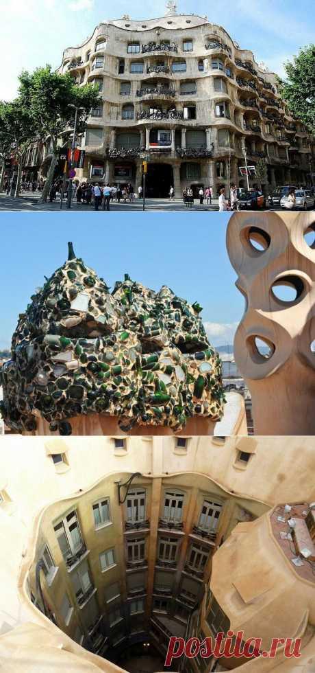 Волнующие своды дома Каса Мила, построенного архитектором Антонио Гауди (Барселона) | Архитектура | Среда обитания