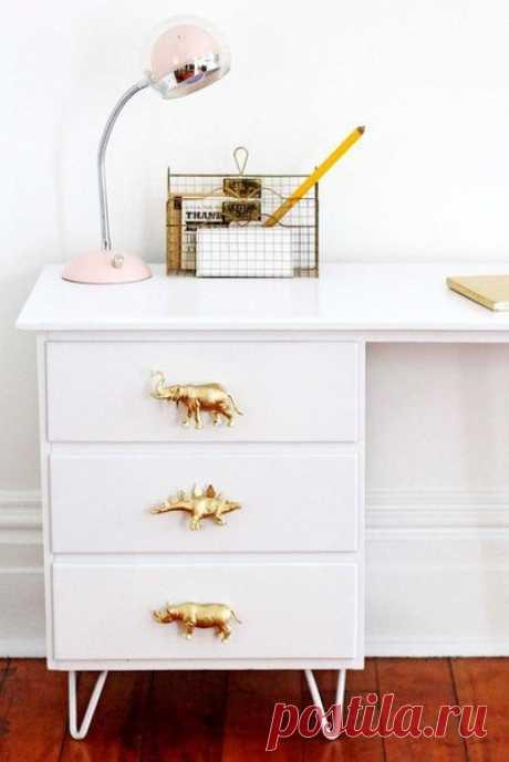 Ручки для мебели своими руками из целых игрушек