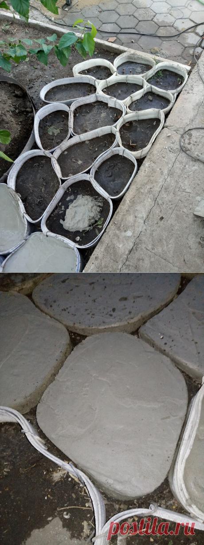 Технология заливки искусственного камня без форм для садовых дорожек | Блог самостройщика | Яндекс Дзен