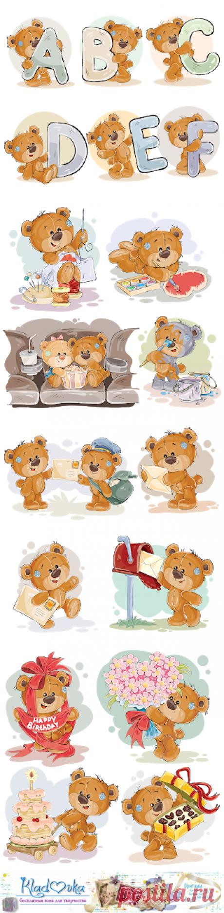 Кладовка...: Серия мишек на прозрачном фоне