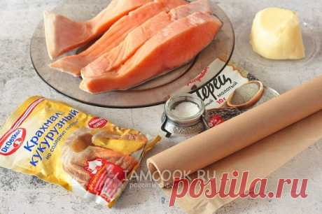 Красная рыба в пергаменте на сковороде — рецепт с фото пошагово