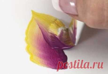 Техника росписи в один мазок