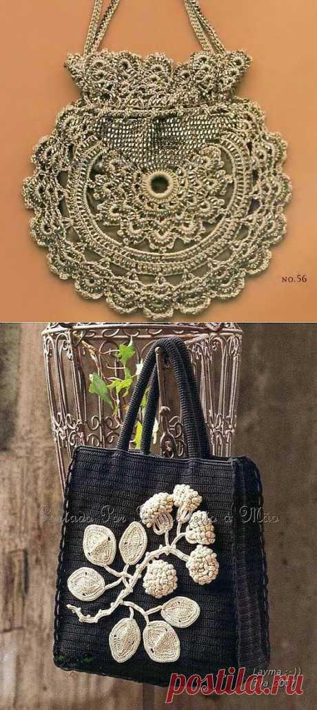 Вяжем чудесные сумки и сумочки крючком Схемы вязания.