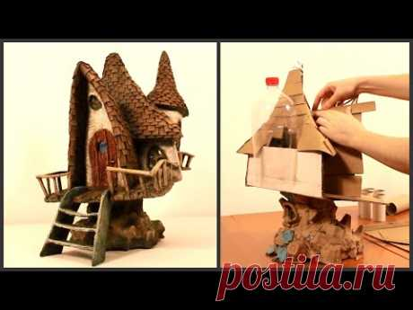 ❣DIY Fairy House Lamp Recycling TRASH❣