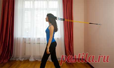 Exercises with an expander for neck muscles