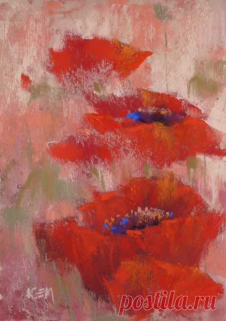 Original Pastel Painting Poppy PINK 7x5 by Karen Margulis psa ORIGINAL PASTEL PAINTING by Karen Margulis  Title:Love Red Size: 7x5 inches Media: Pastel on archival paper  This is an original pastel painting. It measures 7x5 inches and will be shipped to you unframed, safely protected with glassine paper in between two foamcore boards. Your painting will be gift wrapped with love.   Frame is not included but I will provide framing tips. I am an award winning artist and teac...