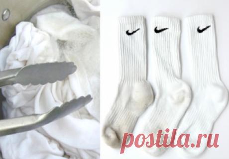 Два простых трюка для стирки белых носков. Они будут белоснежными без использования отбеливателя   Полезный журнал   Яндекс Дзен