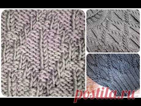 """Как вязать узор """"РОМБЫ"""" для мужского свитера, джемпера, пуловера?"""