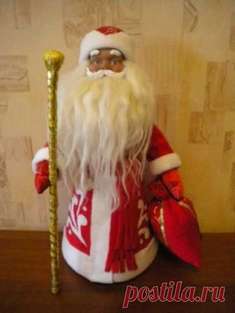 Дед Мороз под ёлочку и на Новогодний стол — Делаем Руками