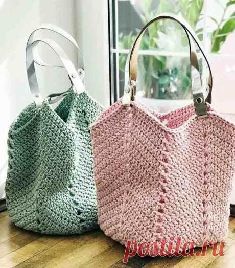 Очень красиво! ЛЕГЕНДАРНЫЕ сумки крючком из ЖУРНАЛОВ! + 3 описания | Вишня Вяжет | Яндекс Дзен