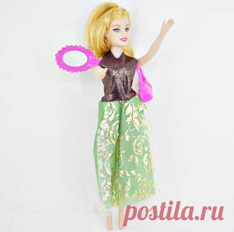Кукла в бальном платье с аксессуарами в пакете оптом