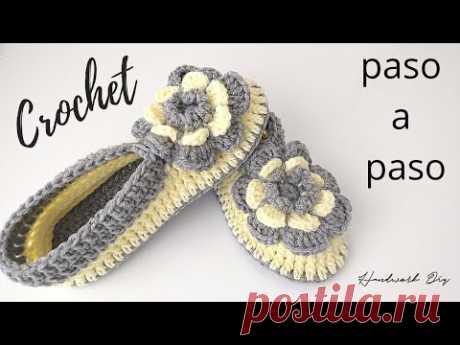 Zapatos a crochet fáciles de tejer paso a paso