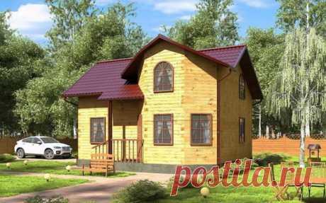 Геометрически верный дом 6х8 м с тремя спальнями и огромной кухней-гостиной | flqu.ru - квартирный вопрос. Блог о дизайне, ремонте