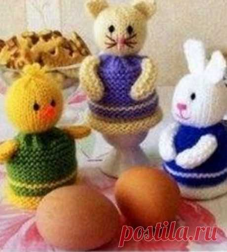 Knitting by Easter spokes