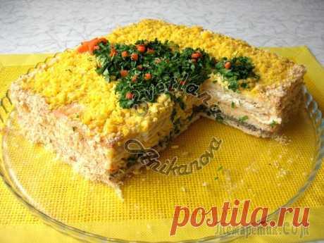 Закусочный торт «Застольный». Идеальная закуска на Новогодний стол!