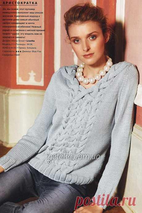 Теплые свитера и пуловеры со схемами » Страница 5