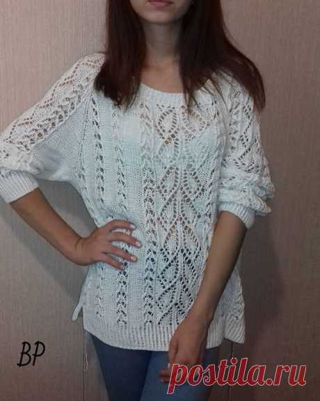 Летом ажурные пуловеры не заменимы и я их очень люблю! (ИДЕИ ДЛЯ ВДОХНОВЕНИЯ) – Журнал Вдохновение Рукодельницы