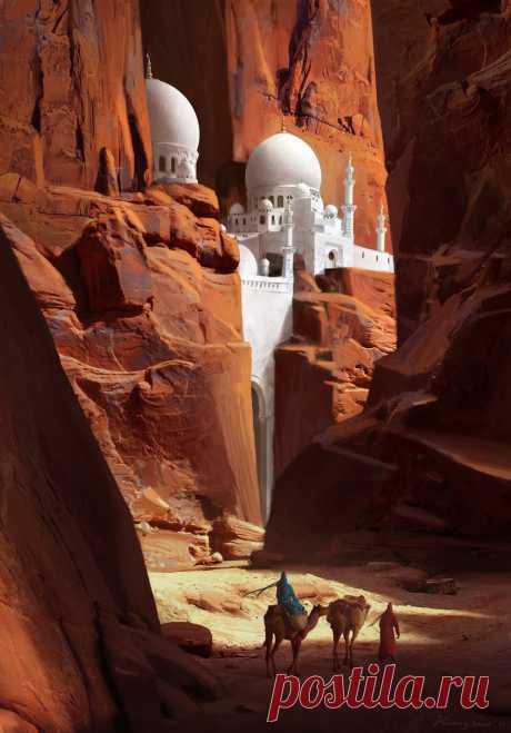 "theamazingdigitalart: ""Red Canyon by Ruxing Gao """
